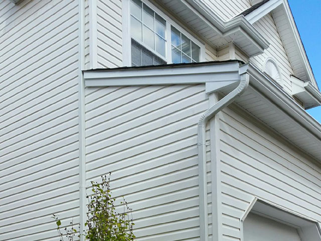 New siding and gutter protection