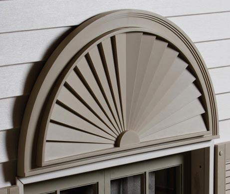 Window with Half Round Sunburst on top