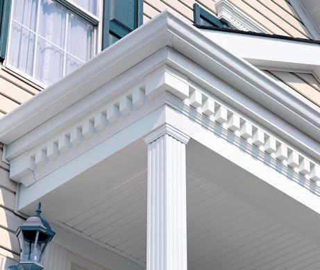 Dentil Trim and Columns