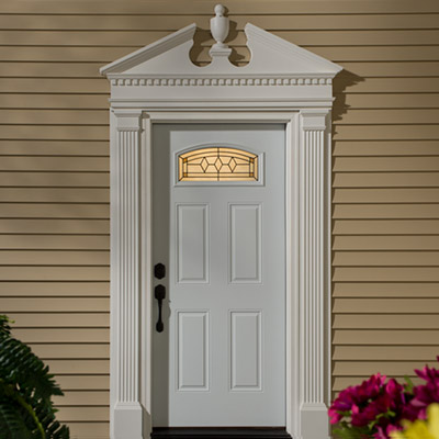 Exterior remodeling - Decorative exterior door pediments ...